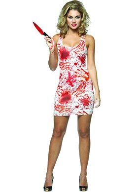 Rasta Imposta Bloody Tank Dress, White, Adult 4-10