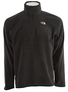 Mens North Face TKA 100 Microvelour Glacier 1/4 Zip Asphalt Grey Size Small