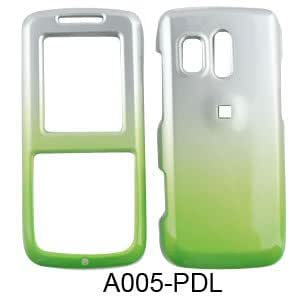 Samsung Messager R450, R451 (Straight Talk) Two Tones, White and Green Hard Case, Snap On Cover