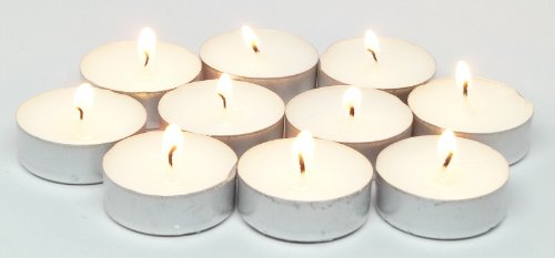 High Quality 500 Pk Bulk White Tealights Unscented
