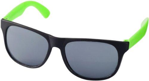 """Retro Sonnenbrille - UV 400 zertifiziert - Sonnenbrille im """"Nerdlook"""" (schwarz und grün)"""