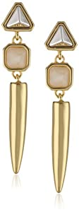 Vince Camuto Horn and Spike Drop Earrings