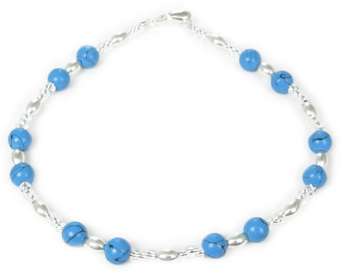 AM5392 – Unique silver plated and Turquoise Bracelet by Dragonheart – 20cm