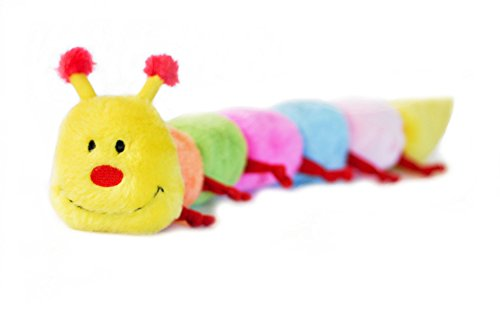 zippypaws-caterpillar-with-6-squeakers-dog-toy-small
