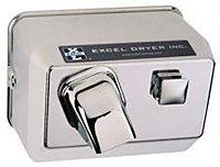 Excel Dryer Cast Hands On 76-C Push Button Chrome 120 Volt Hand Dryer
