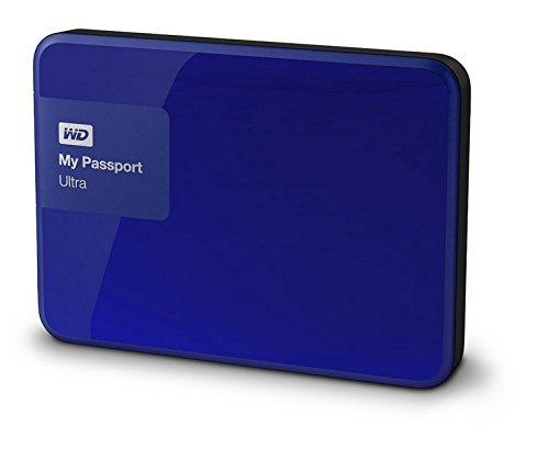 WD WDBGPU0010BBL-EESN My Passport Ultra Hard Disk Esterno Portatile, USB 3.0, 1 TB, Blu