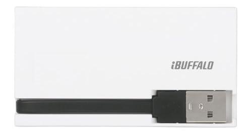 iBUFFALO カードリーダー/ライター シルバー Silver 銀 2倍速 USB2.0バスパワーモデル BSCR10U2SV