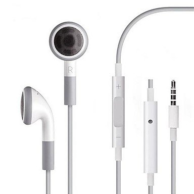 Get Stylish 3.5Mm Earphone With Mic And Volume Control For Iphone 5 /5S And Iphone 4/4S , White