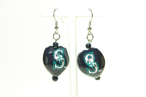 MLB Seattle Mariners Go Nuts Kukui Nut Earrings at Amazon.com