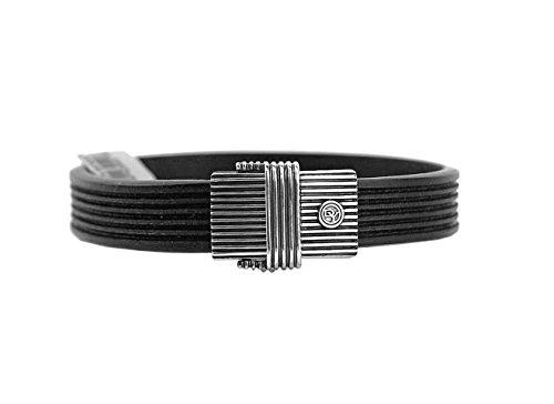 david-yurman-sterling-silver-clasp-royal-cord-leather-id-bracelet-sz-m-new-14b