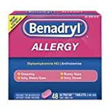 Benadryl Allergy Relief, Ultratab Tablets 48 Ea