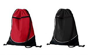 Augusta Sportswear tri-color drawstring Backpack - All Colors Available