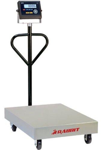 Balance plateforme industrielle bascule mobile sur roulettes spéciale PRO 800 x 600 mm - 300kg x 50g