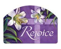 Rejoice Easter Yard Sign