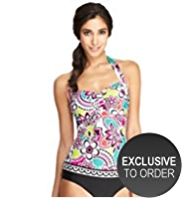 M&S Collection Halterneck Retro Floral Swimsuit
