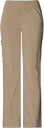 Cherokee Uniforms Straight Leg Cargo Petite Pocket Scrub Pant (Dark Khaki, XS -Petite)