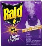 Insect Killer RAID HOUSE & YARD FLEA KILLER PLUS FOGGER TRIPLE PACK