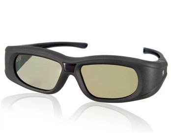 G05-A Infrared And Bluetooth Lcd Lenses Active Shutter Glasses 3D Tv (Black)
