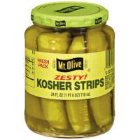 Mt. Olive Pickles - Zesty Garlic Kosher Spears Fresh Pack 24 Oz Jar