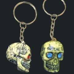 US Toy Jewel Eye Skull Key Chains Toy (Lot of 12), Assorted Color