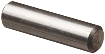 "18-8 Stainless Steel Dowel Pin, 3/16"" Diameter, 1/2"" Length (Pack of 100)"
