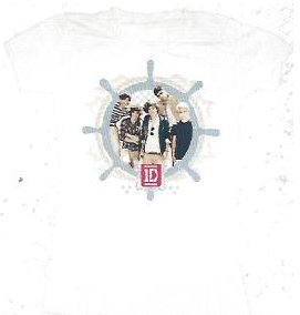 1d One Direction Nautical Juniors T-shirt