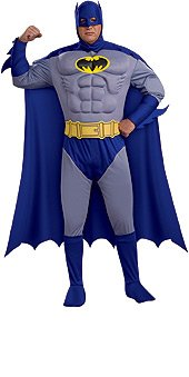 Batman Brave & Bold Deluxe Muscle Chest Adult Plus Costume