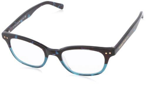 Kate Spade Women'S Rebec Rectangular Reading Glasses,Sky Blue, Tortoise 2.5,49 Mm