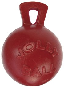 """Jolly Pets Tug-n-Toss - Heavy Duty Chew Ball w/ Handle (Red, 10"""") from Jolly Pets"""