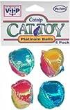 Vo-Toys Platinum Crinkle Balls 4 pack Cat Toy