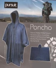 Adults Pursuit Poncho Waterproof Cape fishing Rain Coat Mac Blue