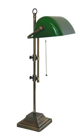 bankers lamp desk lamp desk lamp country house style antique brass handpatiniert brass. Black Bedroom Furniture Sets. Home Design Ideas