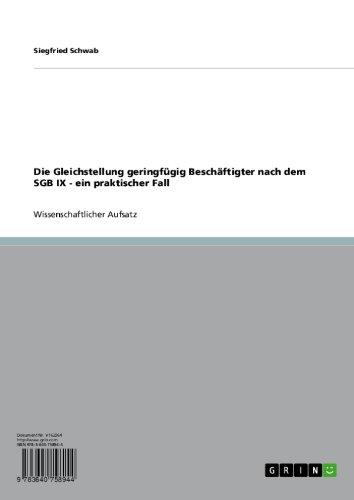SGB 9 - nichtamtliches Inhaltsverzeichnis