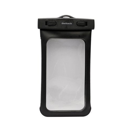 オウルテック iPhone6/6Plus Xperia GALAXY Note3も入る大きめサイズのスマートフォン用防水ケース 防水保護等級IPX8取得 OWL-MAWP03(BK) -