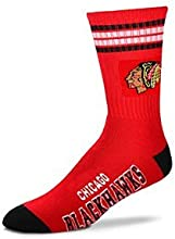 Chicago Blackhawks 4 Stripe Deuce Socks