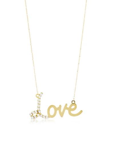 a.v. max Rhinestone Love Necklace