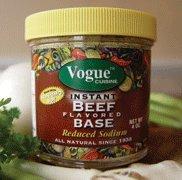 Vogue Cuisine Beef Soup and Seasoning Base 4oz - Low Sodium, Gluten Free, All Natural Ingredients