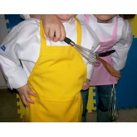 CHEFSKIN kids apron LOT OF 15 Party Kit #1 SAVE! MIX & MATCH COLORS white red blue green pink brown hot pink& more