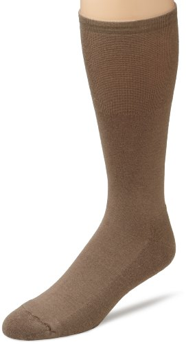 ECCO Men's Cushion Mercerized Cotton Sock,Taupe,10 to 13 Taupe Mens Socks
