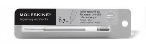 Recharge stylo bille metallique argent mine 0.7