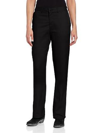 Dickies Women's Wrinkle And Stain Resistant Cargo Multi Pocket Pant,Black,4 Regular
