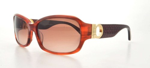 Salvatore Ferragamo SALVATORE FERRAGAMO Sunglasses SF608S 216 Striped Brown 59MM