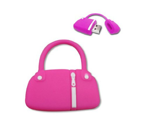 niceeshop(TM) 8GB Novelty Cute Hand Bag Silicone USB Flash Drive Memory Stick,Hot Pink