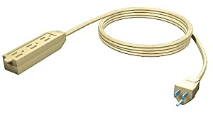 Stanley 34065 CordMax Pro 6-Foot 3-Outlet Indoor Extension Cord, Beige