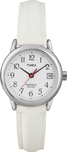 Timex Ladies Basic Round Case, White Dial, White Strap - T2H391