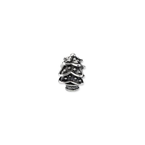 Sterling Silver Christmas Tree Charm for 3mm Charm Bracelets