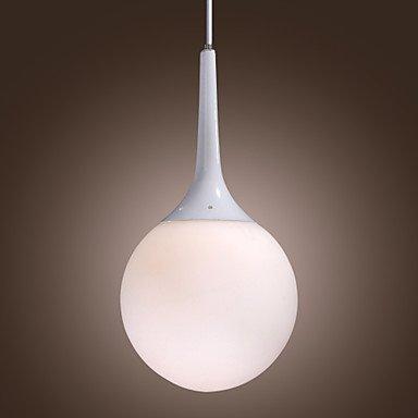 60E E27 Glass Pendant Light In Pearl Feature