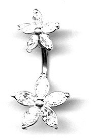 Belly Button Ring Navel Starfish Body Jewelry 14 G 7/16 Bar