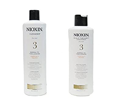 Nioxin System 3 Cleanser & Scalp Therapy Conditioner Treated Hair Set Duo 10 oz by Nioxin