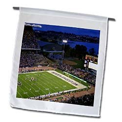 UW plays LSU, college football game, Seattle, WA - US48 CHA0152 - Chuck Haney - 12 X 18 Inch Garden Flag at Amazon.com